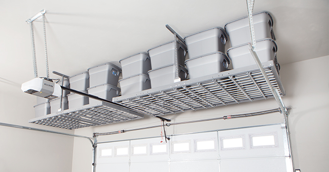 Overhead Garage Shelving Fairfield